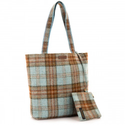 Ferniehurst Check Ladies Shopper Bag and Matching Purse
