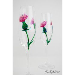Scottish Thistle Glassware - Set of Four