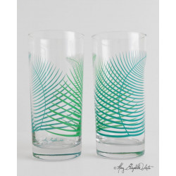 """Raineach"" Fern Glasses"