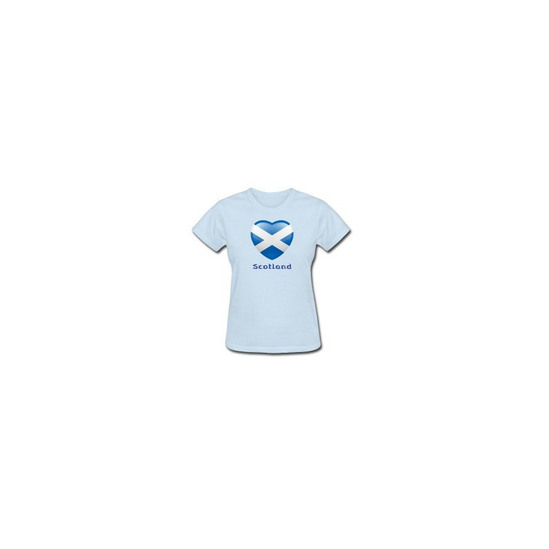 "I ""heart"" Scotland Lady's T-Shirt"