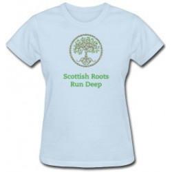 Scottish Roots Run Deep Lady's T-shirt