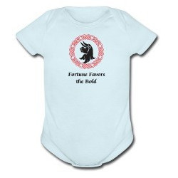 Fortune Favors the Bold Onesie