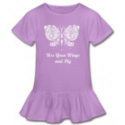 """Fly"" Ruffled Girl's shirt"