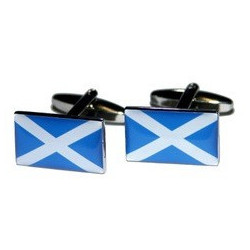 Cuff Links Scottish Flag