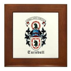 Framed Turnbull or Trimble Arms Tile